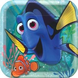 ©Disney/Pixar Finding Dory Square Plates 9 inch (8 per package)