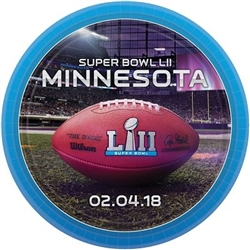 The Super Bowl 52 Dinner Plates are made of cardstock and measure 9 inches. Contain 8 plates per package.