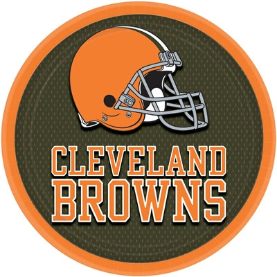 Cleveland Browns Lunch Plates (8/pkg)