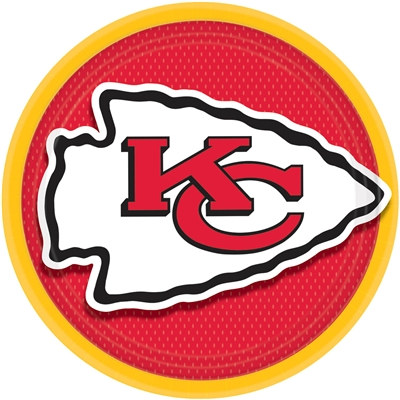 Kansas City Chiefs Lunch Plates (8/pkg)