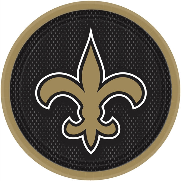 New Orleans Saints Lunch Plates 8 Pkg