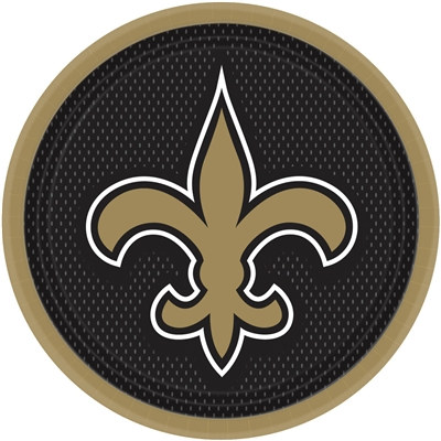 New Orleans Saints Lunch Plates (8/pkg)