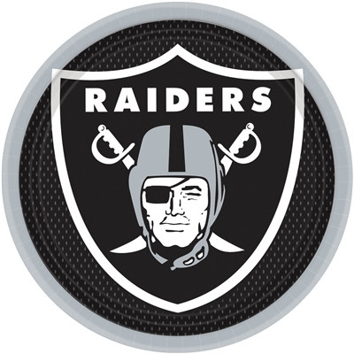 Oakland Raiders Lunch Plates (8/pkg)