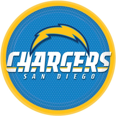 San Diego Chargers Lunch Plates (8/pkg)