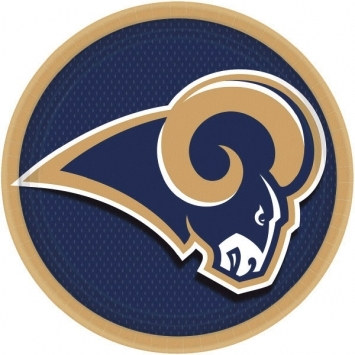 Los Angeles Rams Lunch Plates (8/pkg)