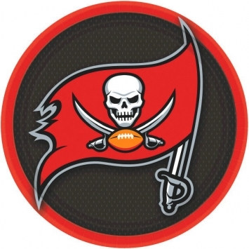 Tampa Bay Buccaneers Lunch Plates (8/pkg)