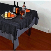 Black Cheesecloth Tablecover