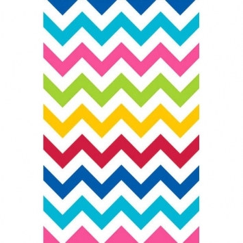Multi-Color Chevron Tablecover (1/pkg)