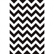 Black and White Chevron Tablecover (1/pkg)