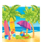 Surf's Up Plastic Tablecover