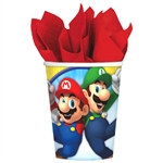 Super Mario Brothers 9 oz Cups