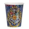 The Harry Potter Hot/Cold Cups 9 oz are made of scalloped paper and measure 3 1/2 inches tall. They can hold up to 9 ounces of either hot or cold liquid. Printed with the Hogwarts logo and their moto Draco Dormiens Nunquam Titillandus. Contains 8 per pack