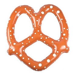 "The Inflatable Pretzel 24"" looks just like a big soft pretzel! A whopping 24 inches tall, it will surely get noticed by your Oktoberfest guests, or draw attention to your pretzel stand! One per package. No returns accepted."