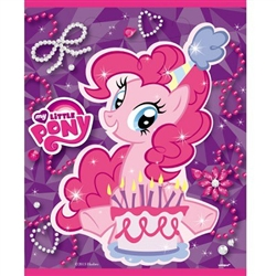 The My Little Pony Loot Bags are the perfect take-home gift for all of the party guests. Fill each bag with treats and party favors for your guests to enjoy long after the party ends. Each package includes eight plastic loot bags printed with Pinkie Pie.
