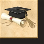 Sophisticated Grad Beverage Napkins (16/pkg)