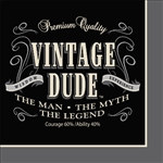 Vintage Dude Beverage Napkins (16 per package)