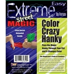 The Color Crazy Hanky will magically change color right before your eyes! You'll be the only one that knows the secret behind the  magic! Each package comes with a full set of instructions. Impress and amaze your friends! Ages 14 and up.