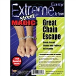 The Great Chain Escape is a fun little magic trick that will have your friends wondering how you did that! The set of chains and padlock come with full instructions for escape. See how long it takes to break free from this seemingly secure restraint!