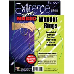 Magic Rings will impress your friends and party guests, as you appear to magically connect and separate them. Full instructions for their use is included in each package. Package includes four metal rings, each approximately 4 inches in diameter.