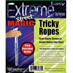 Tricky Ropes will amaze your friends as they watch the ropes change length right before their eyes! Each package includes 3 pieces of white rope and full set of instructions. For ages 14 and older.