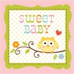 Happy Tree Baby Girl Napkins (16/pkg)