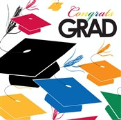 Colorful Grad Lunch Napkins (18/pkg)