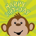 Monkeyin' Around Happy Birthday Lunch Napkins