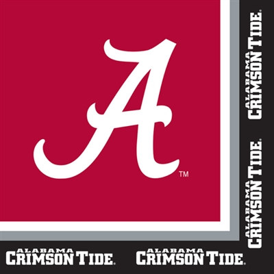 University of Alabama Lunch Napkins (20/pkg)