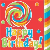 Sugar Rush Birthday Napkins (16/pkg)