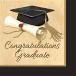 Sophisticated Grad Lunch Napkins (16/pkg)