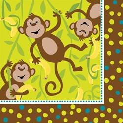 Monkeyin' Around Lunch Napkins