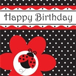 Ladybug Happy Birthday Lunch Napkins (16/pkg)