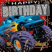 Monster Truck Birthday Lunch Napkins (16/pkg)