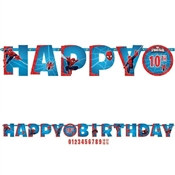 Spider-Man Happy Birthday Banner