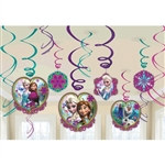 Frozen Foil Swirl Decorations