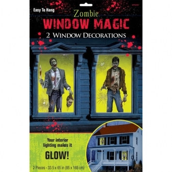 Zombie Window Decorations