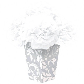 Elegant Silver Fluffy Flower Centerpiece