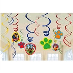 Paw Patrol Foil Swirl Decorations