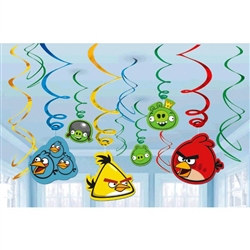 Angry Birds Foil Swirl Decorations