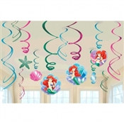Little Mermaid Value Pack Foil Swirl Decorations (6/pkg)