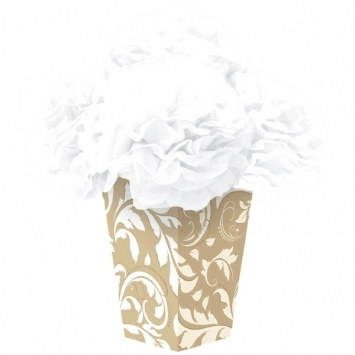 Elegant Gold Fluffy Flower Centerpiece