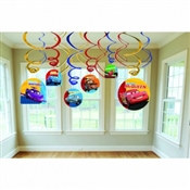 Cars Value Pack Foil Swirl Decorations (6/pkg)