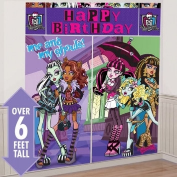Monster High Scene Setter Wall Dec Kit