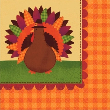 Turkey Dinner Beverage Napkins (36/pkg)