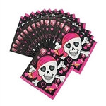 Pink Pirate Beverage Napkins
