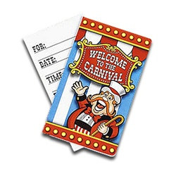 Circus Theme Invitations