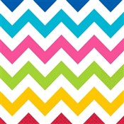 Multi-Color Chevron Lunch Napkins (36/pkg)