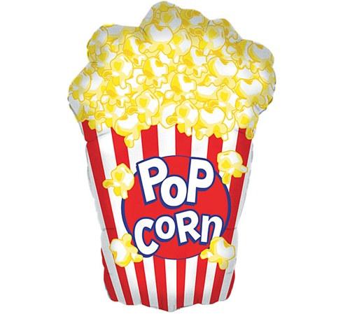 Jumbo Popcorn Box Mylar Balloon