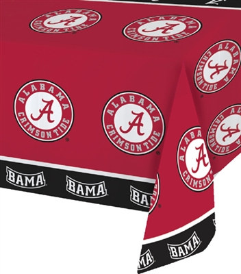 University of Alabama Plastic Tablecover