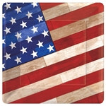 Old Glory Square Plates 10 inches